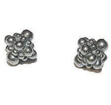 MB223 Black Pewter 9mm Tibetan-Style Beaded Bicone Beads 2pc