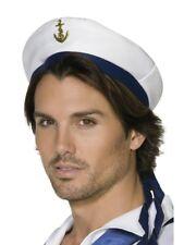 LUJO Sombrero Capitán MAR MARINE Gorra Con Visera Disfraz de Accesorio NUEVO