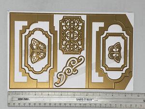 Anna Griffin 6x10 Butterfly Flourish Card Frames Embossing Stencil Cutting Dies