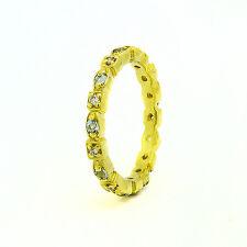 b386c0536231 14k Oro Amarillo Diamante Aguamarina Anillo Eternidad 0