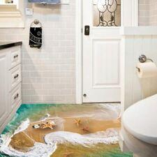 Home Dekor Einzig 3D Strand Seestern Boden Baseboard Wand Aufkleber Zimmer Kunst