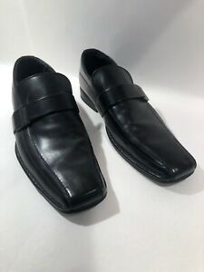 Unlisted by Kenneth Cole Round Table  Mens Black Dress Loafers Shoes Size 9.5