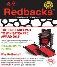 Redbacks leaf spring knee pads for work trousers. New Lighter version