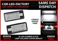 AUDI A8 S8 D3 2003-07 LED LIGHTS UPGRADE NUMBER PLATE HOLDERS 6000K (4E)