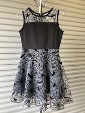 Halloween Women's Spider Web Bat Dress Size Medium 8 Nightmare BC Scary Sexy