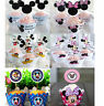 PACK OF 12 MICKEY MINNIE MOUSE CUPCAKE WRAPPERS & TOPPERS BIRTHDAY PARTY SUPPIES