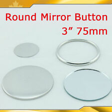 """Diy Pro 3"""" 75mm 100sets Mirror Button Badge Supply for Button maker gift sell"""