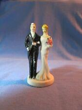 Vintage Bisque Bride & Groom Wedding Cake Topper Antique 1920 1930 ?