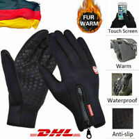 Herren Damen Thermo Warm Touchscreen Handschuhe Winter Wasserdicht Fahrrad DE
