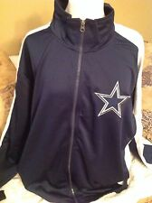 NFL TRACK JACKET DALLAS COWBOYS (LARGE)  NEW WITH TAGS LIGHT GREY SIDES