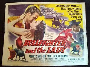 Bullfighter & The Lady 1951 Vintage Half-Sheet Poster Robert Stack Joy Page