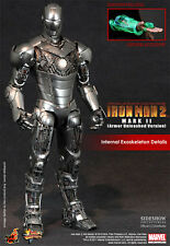"Hot Toys Iron Man 2 Mark II  Armor Unleashed Version 12"" Action Figure Exclusive"