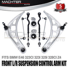 For BMW 3 E46 Front Lower Control Arms Tie Rod Ends Sway Bar Links Suspension