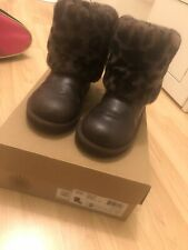 Girl UGG Leather Boots Size 1uk/32