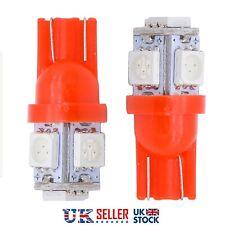 4 x T10 501 RED LED 5050 W5W 5 SMD Car Van Side Interior Wedge Light Bulb 12v