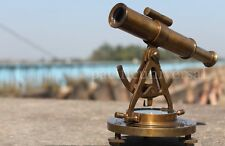 "Antique Vintage Brass Alidade Telescope avec boussole marine decor fait main objet 8""."