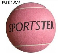 LARGE TENNIS BALL SPORTEK PINK DOG TOY BEACH RUBBER 24 CM FREE PUMP