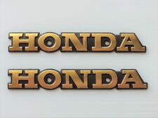 Honda Retro Metal Emblem Badge Fuel Tank GOLD & BLACK ***UK STOCK***