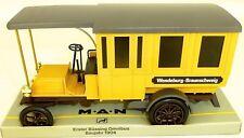 PRIMER BÜSSING Omnibus amarillo Man wendeburg BRUNSWICK curser Modelo 982