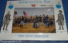 Una chiamata alle armi #18 Union IRON Brigade 1/32 SCALA fanteria guerra civile-NON VERNICIATA
