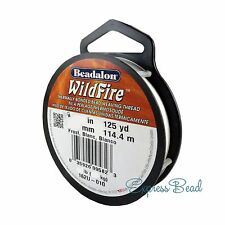 Beadalon WILDFIRE 125 yd/114.4 m Frost/Black Beading Thread Cord
