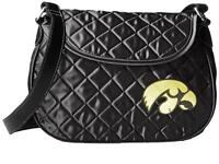 Iowa Hawkeyes Quilted Saddlebag Purse Crossbody Embroidered Team Logo