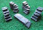 Stone Steps (4) - OO Gauge/1:76 scale - Painted