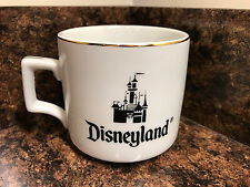 Vintage walt disney world disneyland coffee tea cup mug white 10 oz