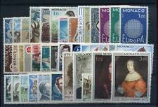 MONACO ANNEE 1970 COMPLETE TIMBRES NEUFS XX - LUXE
