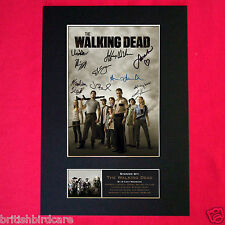 THE WALKING DEAD Signed Autograph Mounted Photo Repro A4 Print 330