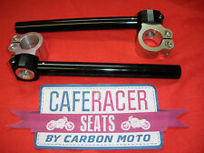 CAFE RACER 39mm CLIP ON HANDLEBAR FULLY ADJUSTABLE CNC ALLOY *NEW* FREE DELIVERY