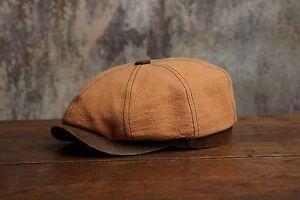 Lucca Men's Women's Bakerboy Newsboy Summer Linen Cap Peaky Blinder Cap