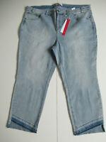 Sheego Damen lange Strech Jeans gerades Bein Gr. 54 56 58 Blau Hose Stretchhose