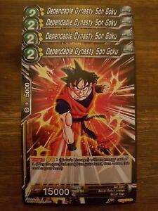 4x Dependable Dynasty Son Goku - Dragon Ball Super Card Game