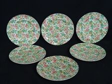 LOT of 6 VANRO EARLY ENGLISH CHINTZ PLATE by BOOTHS ~ 8 7/8""