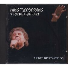 MIKIS THEODORAKIS & MARIA FARANTOURI The birthday concert '95 CD ITALY