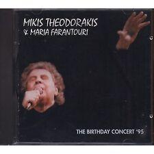 MIKIS THEODORAKIS & MARIA FARANTOURI The birthday concert '95 CD ITALY