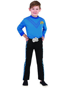 Anthony Blue Wiggle The Wiggles Deluxe Book Week Dress Up Boys Costume Size 3-5