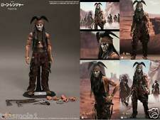 "HOT TOYS 1/6 SCALE 12"" THE LONE RANGER - TONTO - JOHNNY DEPP - SIDESHOW"