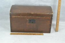 dome top box document 15 x 9 in dove tail trunk 19thc antique 1850 very good