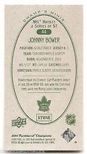 11/12 PARKHURST CHAMPIONS CHAMP'S MINIS GREEN BACK PARALLEL Johnny Bower #44