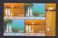 CYPRUS MNH STAMP SET 2012 EUROPA TOURISM BOOKLET PAIR