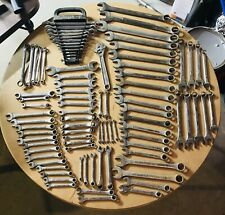 HUGE LOT SK LECTROLITE WAYNE COMBINATION BOX OPEN END WRENCHES 89 TOTAL USED
