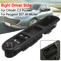 Right Driver Side Master Window Control Switch For Peugeot 207 Citroën C3 Picass