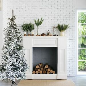 ALEKO Artificial Flocked Spruce Holiday Christmas Tree - Snow Dusted - 7 Foot