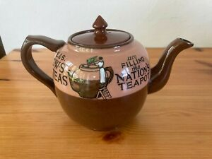 Superb Small Vintage 1920/30s Pictorial Advertising E&S C.W.S Teapot