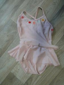 H&M Mädchen Badeanzug Gr 74 / 80 rosa Swimmwear Bademode