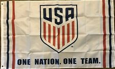 USA Soccer Flag 3x5 One Team One Nation Banner USMNT USWNT