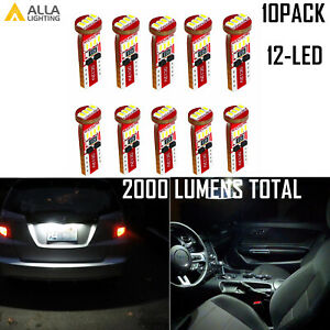 Alla Lighting 12-LED 906 Map|Dome Light Bulb|Courtesy|Cargo Trunk Luggage White