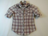 North River Outfitters Womens Small Western Shirt Pearl Snap Buttons